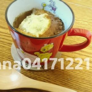 寒い朝に!オニオングラタンスープ