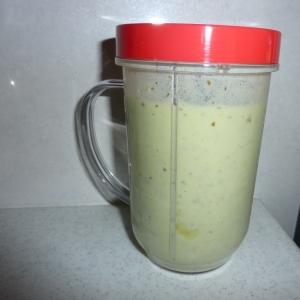 柿と小松菜のジュース