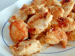 鶏むね肉のにんにく味噌照り焼き