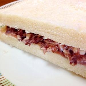クリームチーズとあんこのサンドイッチ