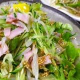 もやしきゅうりレタスの和風サラダ