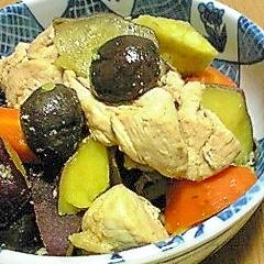 サツマイモと鶏肉のほっこり煮