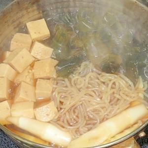 昆布とタケノコの煮物