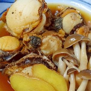 ご飯が旨い! 「赤皿貝とシメジの生姜煮」