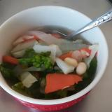 菜の花と大豆のスープ
