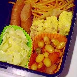 お弁当に♪ ツナと大豆のトマト煮込み