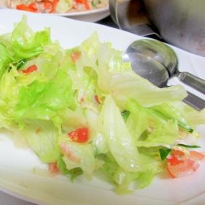 ゆずトマトドレッシングのレタスサラダ