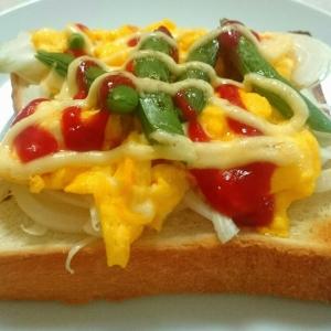 春野菜のオープンサンド 朝食にぴったり(^^)d