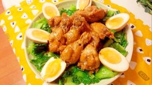 鶏手羽元と玉子のさっぱり煮