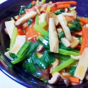 【簡単】小松菜ときのこのあんかけ炒め【冷蔵庫整理】