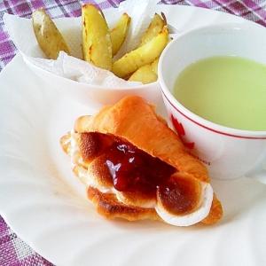 マシュマロ餡クロ・ポテト・抹茶ミルクの満足プレート