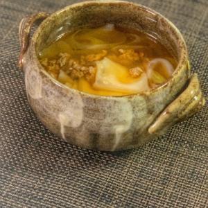 絶品!!!包まず簡単♫ピリ辛ワンタンスープ