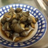 小さめのバイ貝で バイ貝の煮付け