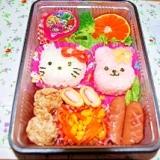女の子のお弁当*キティ&うさぎ*