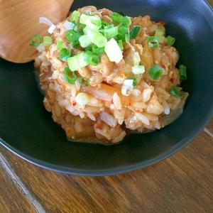 キムチ納豆雑炊