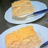 バニラアイスで♪しっとり濃厚チーズケーキ☆