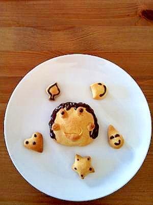 母の日に父子でクッキー