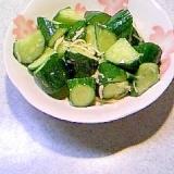 きゅうりの塩麹昆布茶生姜でピリ