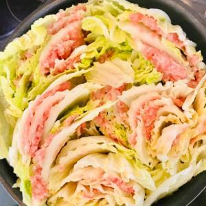 白菜と鶏ひき肉のミルフィーユ煮