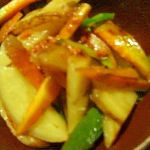 ジャガイモとにんじんのケチャ煮