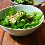 セロリの葉の韓国風サラダ