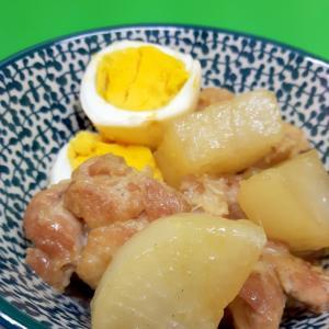 子供が大好き!鶏肉と大根の煮物withゆで卵♪