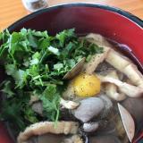 パクチー×あさりのにゅう麺