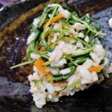 押し麦とおかひじきの中華サラダ