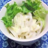 蓮根、チーズサラダに塩ドレヨーグルト