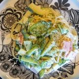 きゅうりとズッキーニのサラダスパゲティ