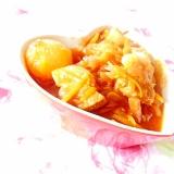 ほわりカレー味❤トマト缶と豚バラのボルシチ風❤