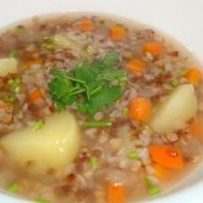 そばの実のウクライナスープ