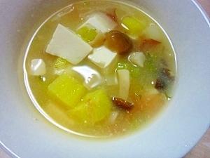 しめじとさつま芋の鰹パック味噌汁