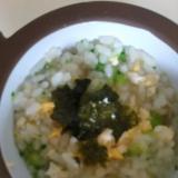 幼児食 ブロッコリーと卵の雑炊