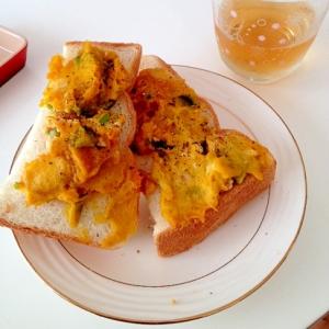 リメイク★かぼちゃの煮物deペッパートースト
