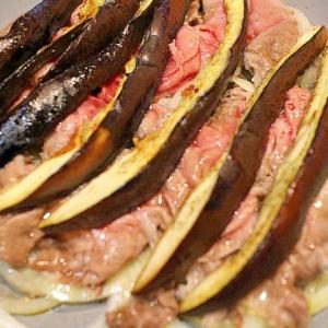 【簡単】焼肉?すき焼き?フライパンで牛肉の重ね蒸し