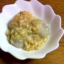 里芋の含め煮ねぎ味噌そぼろあんかけ
