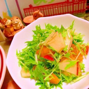 林檎と不知火と水菜の簡単サラダ