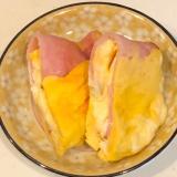レンジで簡単!ハムとチーズのミルフィーユ♪オムレツ