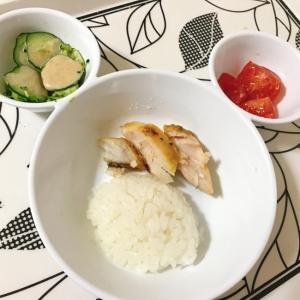 幼児用プレート〜サワラ・キュウリのサラダ〜