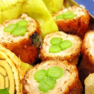 お弁当おかず★甘辛味の薄切り豚ロース隠元巻き焼き