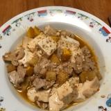 豚肉とズッキーニ、豆腐のピリ辛炒め