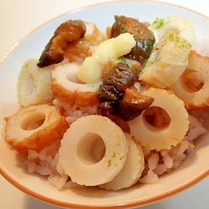 青海苔♡生姜香る 竹輪とキューちゃんのご飯♬