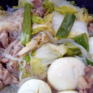 すき焼き風煮の卵入り