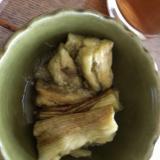 柚子ポンで食べる焼きなす