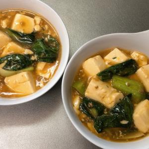 チンゲン菜入り麻婆豆腐