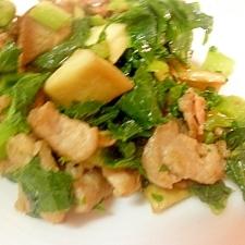 お弁当に☆エリンギ&豚肉&大根葉の生姜炒め