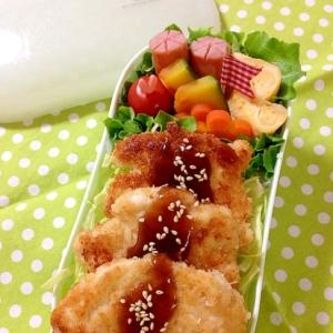 女の子の部活弁☆簡単 チキンカツ丼弁当♪
