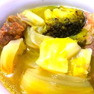 炊飯器で簡単☆余り野菜でお手軽スープ