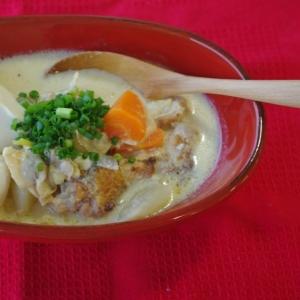 和風豆腐ミルクスープ